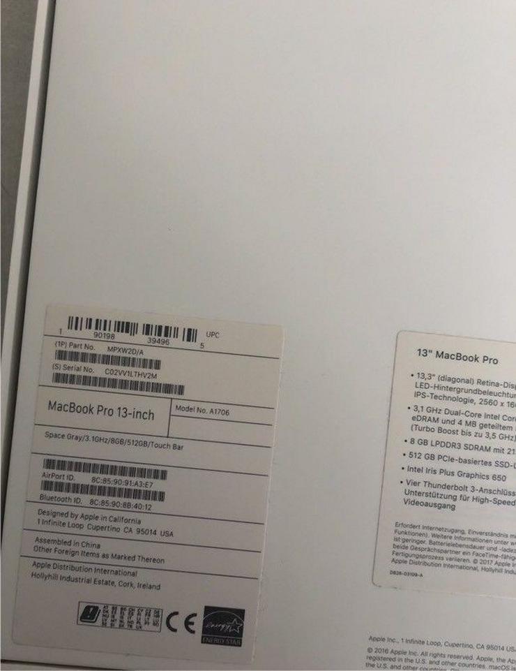 Bild 3: MacBook Pro 13 mit TOUCHBAR 512 GB