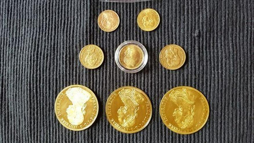 Bild 7: Münzen Konvolut und Gold Barren