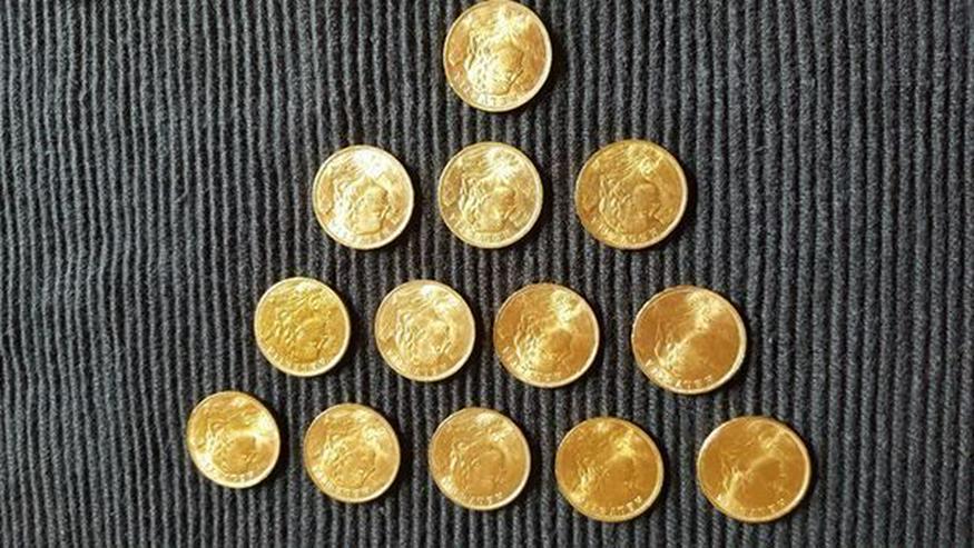 Bild 9: Münzen Konvolut und Gold Barren