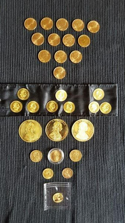 Bild 10: Münzen Konvolut und Gold Barren