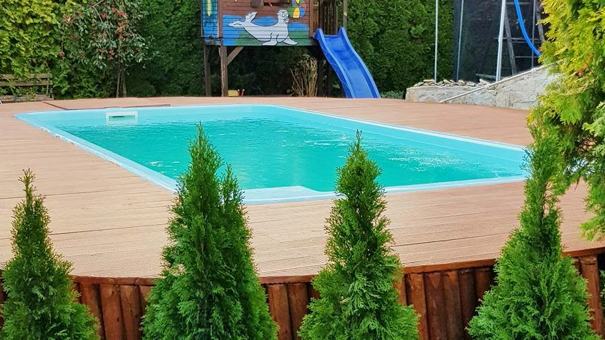 Polyester Pool 6,30x3,00x1,50 + Zubehör Schwimmbecken Gfk Schwimmbad