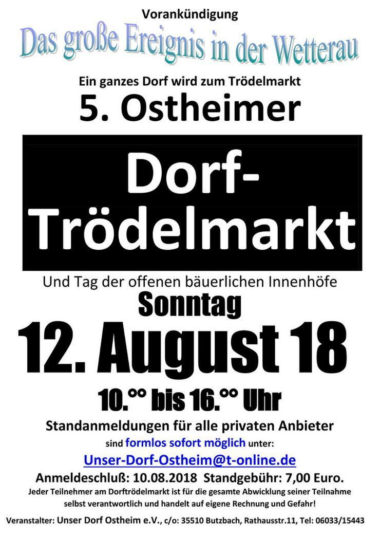 Ostheim (Butzbach) wird zum Trödelmarkt