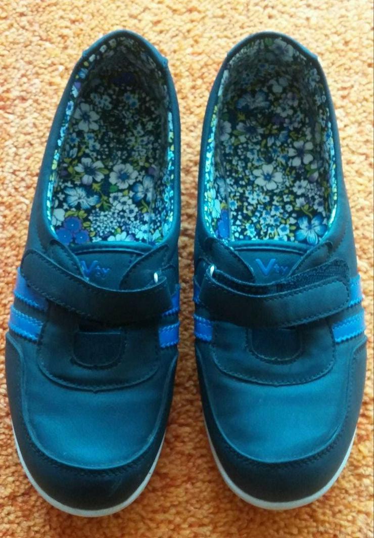 Bild 5: Damen Schuhe Federleicht Klett Slipper Gr.38