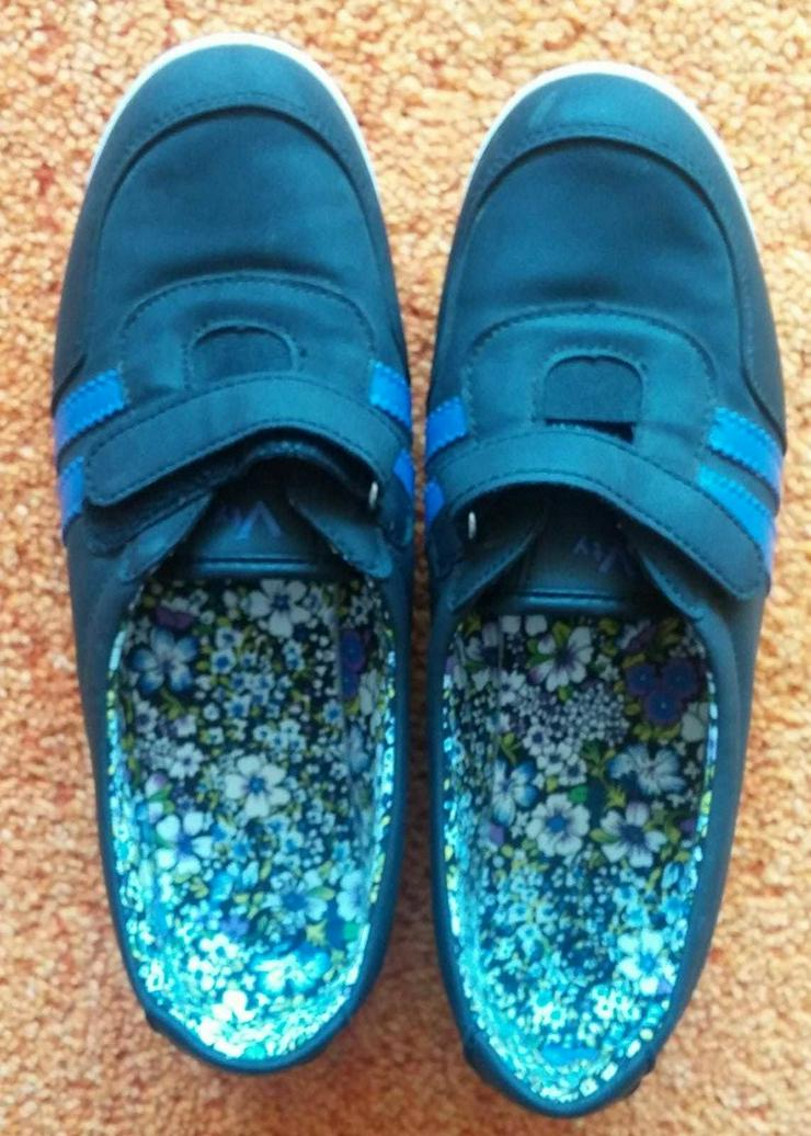 Bild 6: Damen Schuhe Federleicht Klett Slipper Gr.38