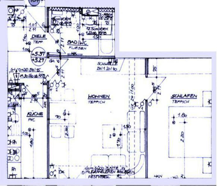 Bild 16: 2 Zimmer mit Südbalkon, EBK, Bad mit Wanne und extra breiten TG Stellplatz