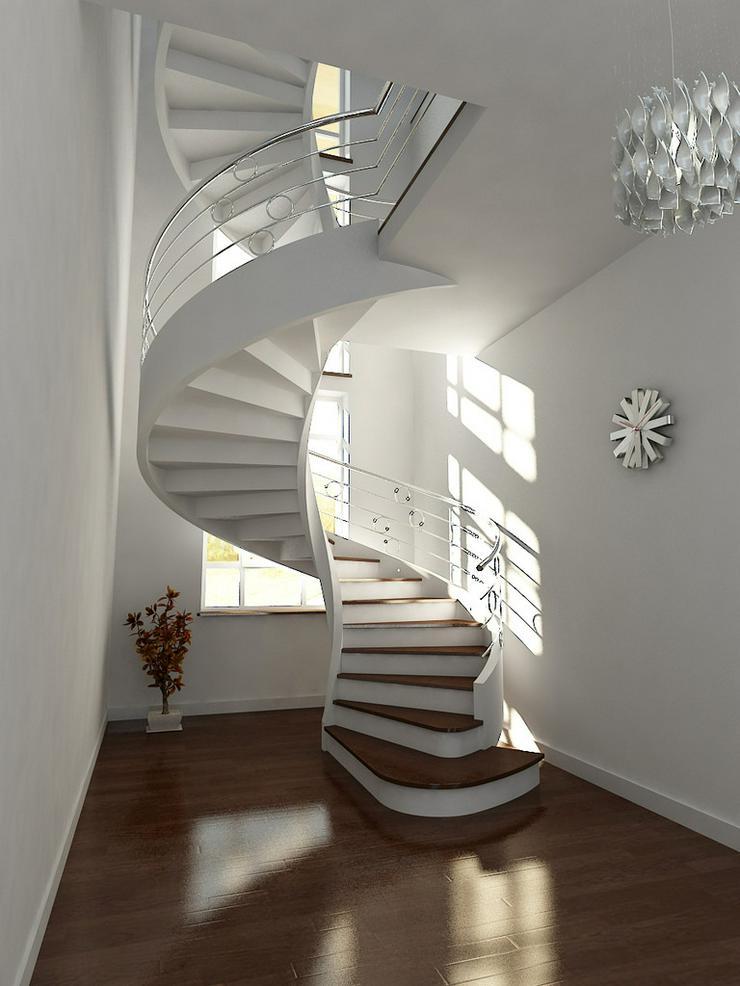 Bild 6: Spiraltreppen - Massive Treppe aus Beton