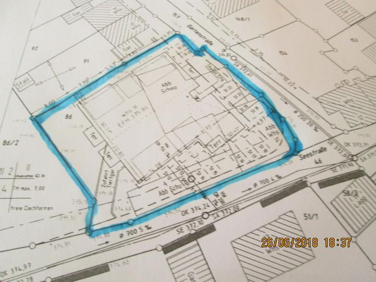 Bild 2: Bauplatz mit genehmigter Planung 12 Wohnungen