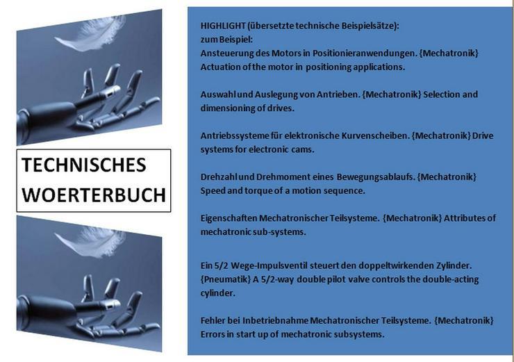 de-englisch Uebersetzungen: Mechatronik-Texte