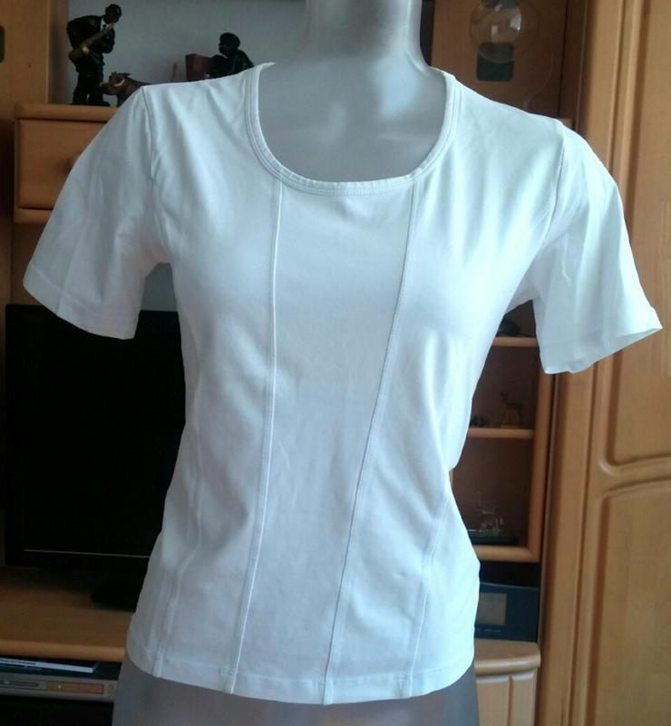 Damen Shirt schlicht Stretch Gr.38 in Weiß