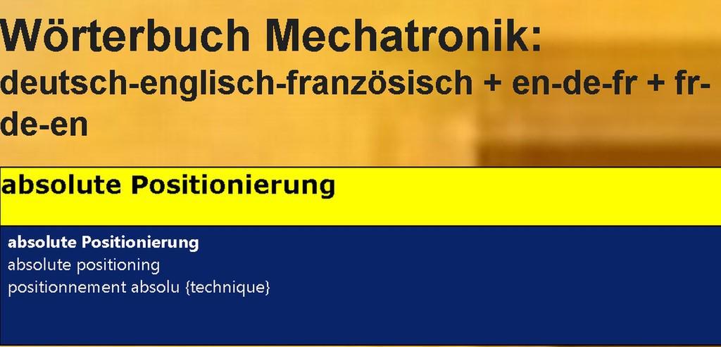 Technisches Franzoesisch + englisch uebersetzen