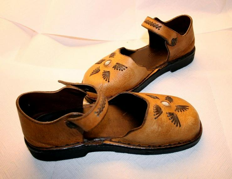 Bild 4: Damen Schuhe,Sandalen,Leder Hand Made