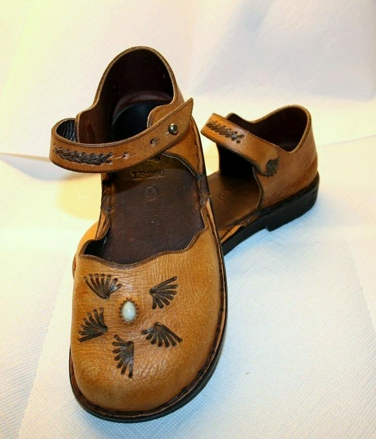 Bild 2: Damen Schuhe,Sandalen,Leder Hand Made