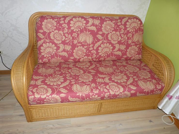 Rattan 2-Sitzer Schlafsofa - Bild 1