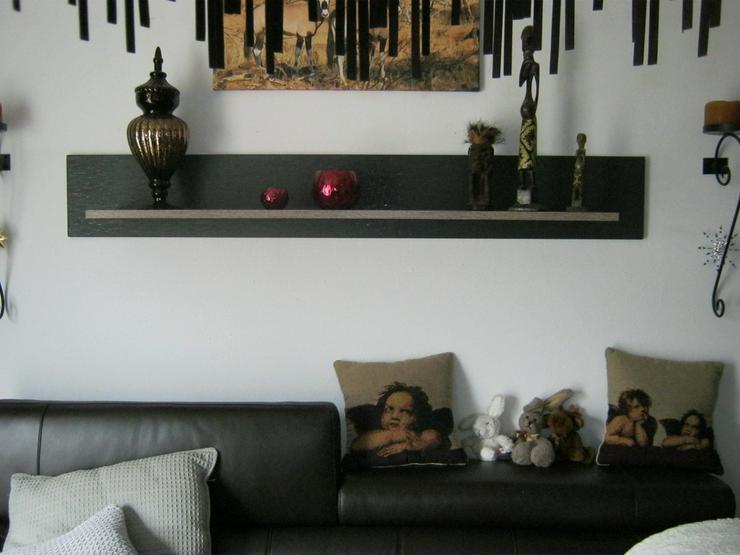 Bild 4: Hochwertiges Wohnzimmer mit Ledersofas