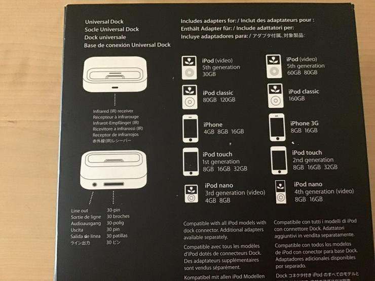 Bild 2: Universal Dock für Apple Geräte