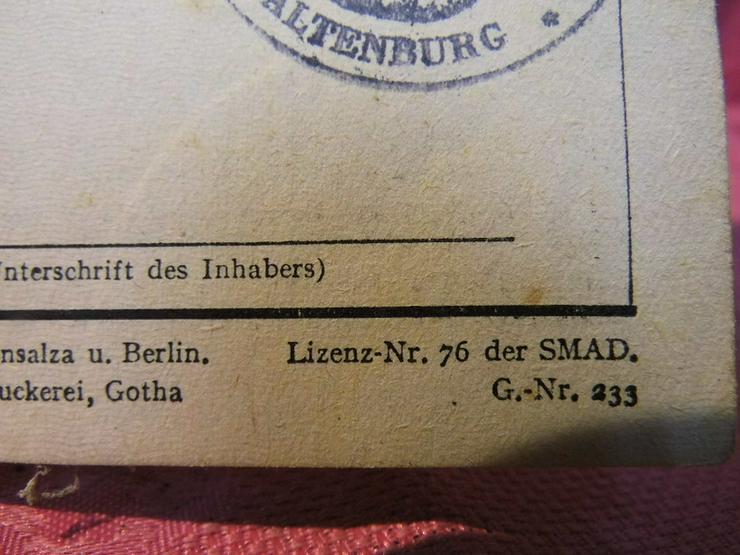 Bild 4: Arbeitsbuch Ausgabe 1946 / 1948 ausgestellt /