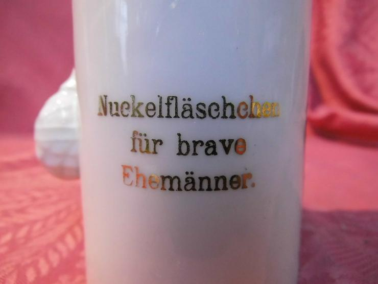 Bild 4: Antike lustige Scherzflasche Jugendstil / Nuck