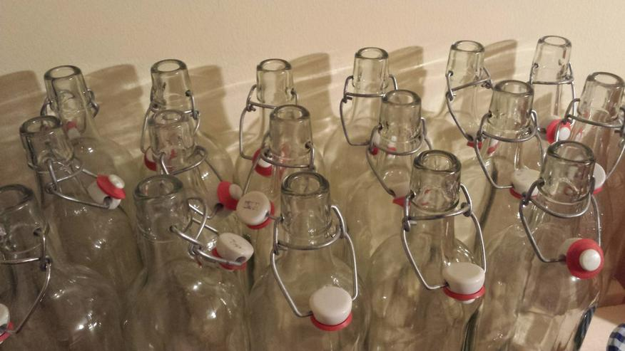 1 -ltr.-Glasflasche mit Keramik-Bügelverschluss