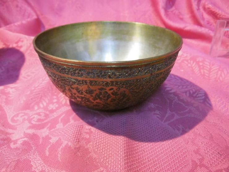 Bild 2: Antike Schale orientalische Schüssel Messing v