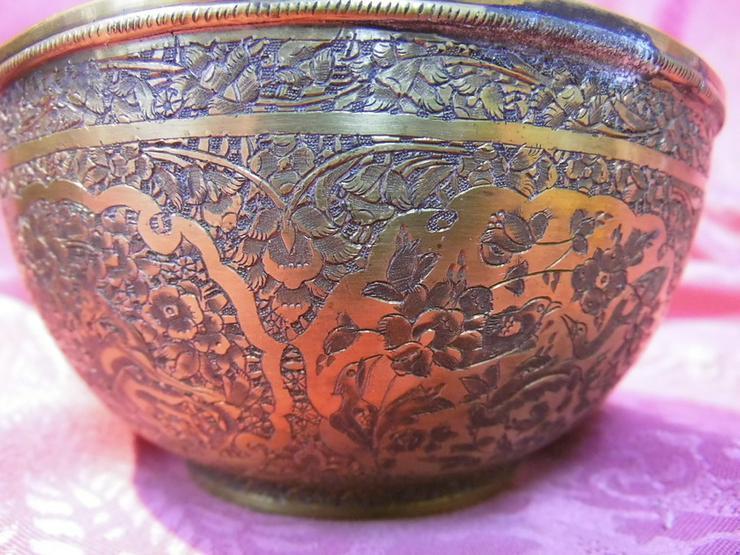 Bild 4: Antike Schale orientalische Schüssel Messing v