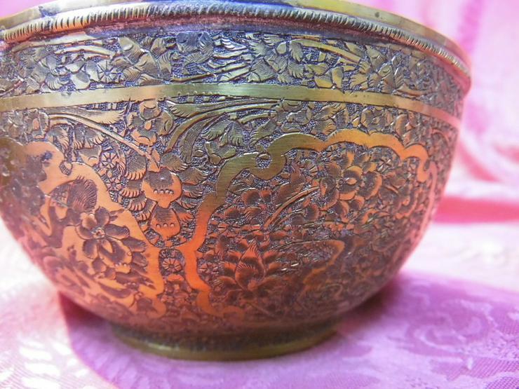 Bild 5: Antike Schale orientalische Schüssel Messing v