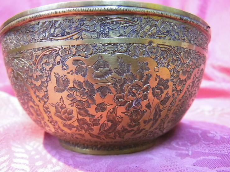 Bild 6: Antike Schale orientalische Schüssel Messing v