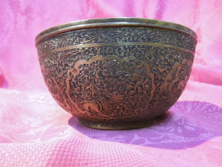 Bild 4: Antike Schale orientalische Schüssel Messing T