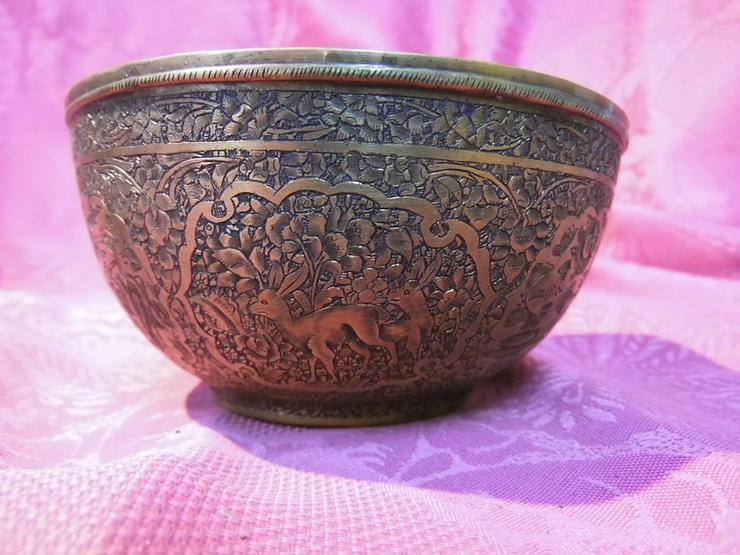 Bild 6: Antike Schale orientalische Schüssel Messing T