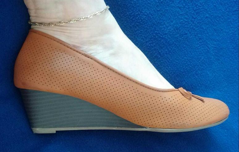 Damen Schuhe Pumps mit Keil Gr.39 Walkx Woman
