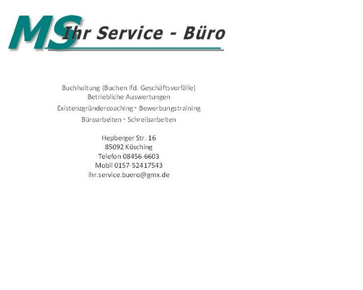Buchhaltung - Sonstige Dienstleistungen - Bild 1