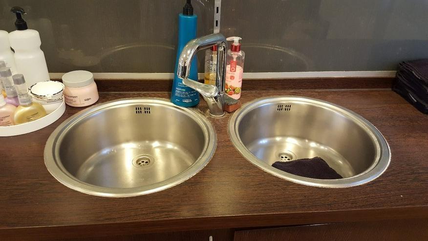 Bild 4: Friseureinrichtung Mixecke mit 2 Waschbecken