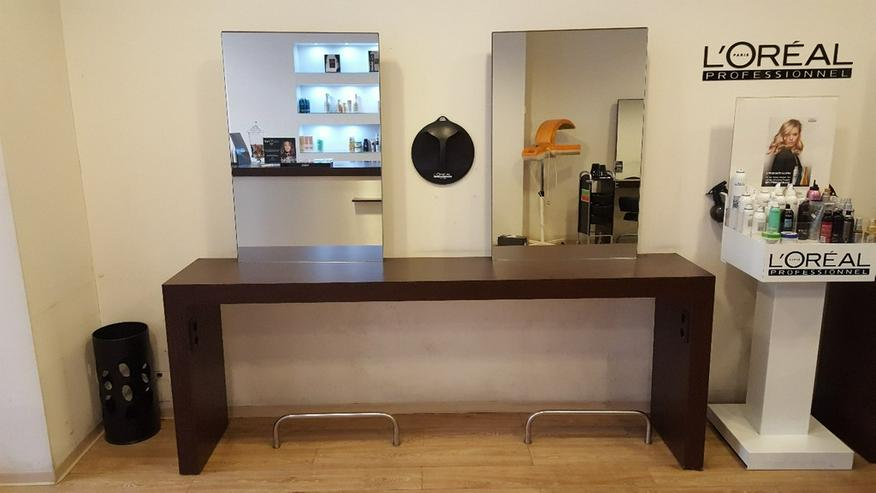 Friseureinrichtung Bedienplätze inkl. 2 Spiegel - Regale & Einrichtung - Bild 1