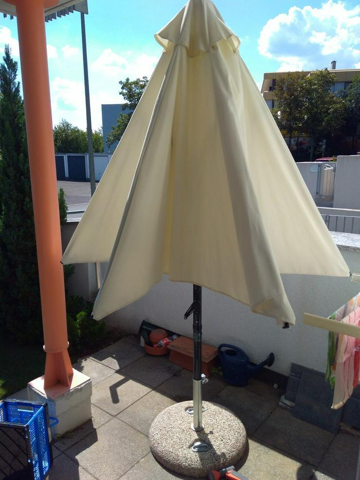 Sonnenschirm 3 m DM zum Kurbeln