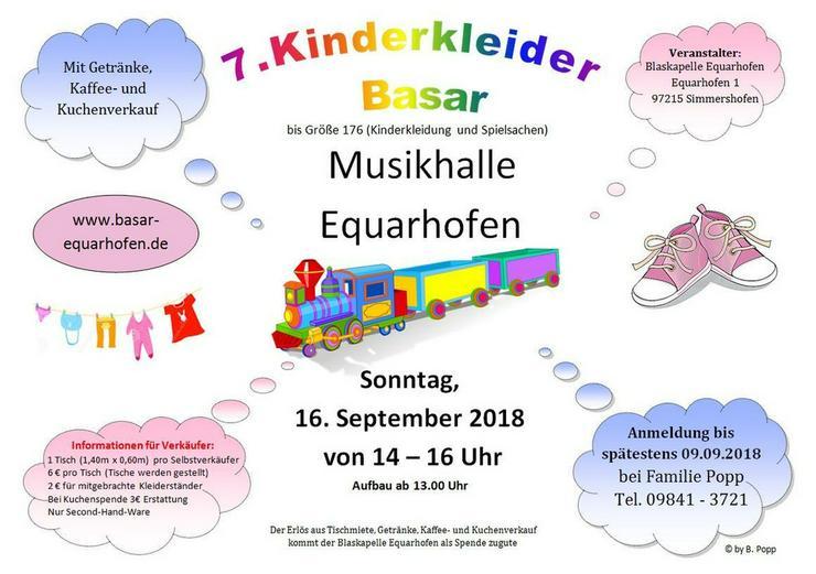 7. Kinder Kleider Basar PLZ 97215 Equarhofen