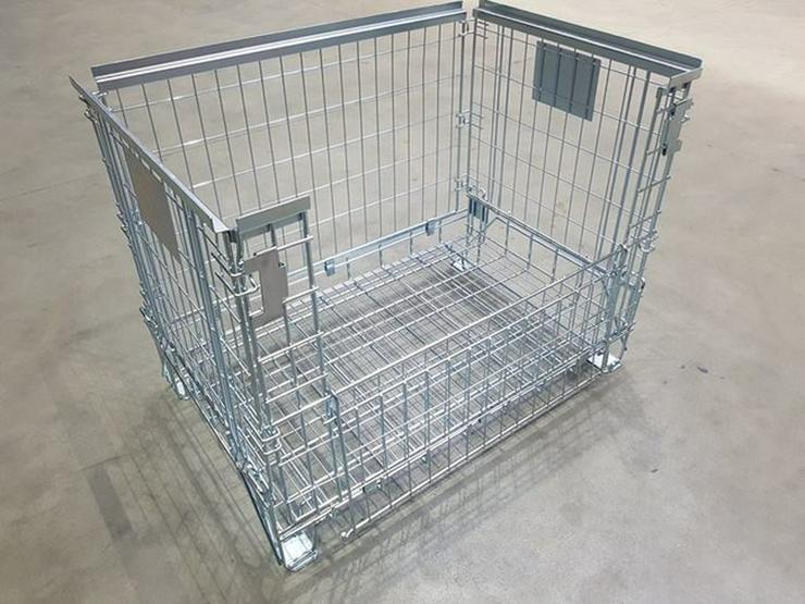 Bild 2: Gitterbox verzinkt, Metallbehälter
