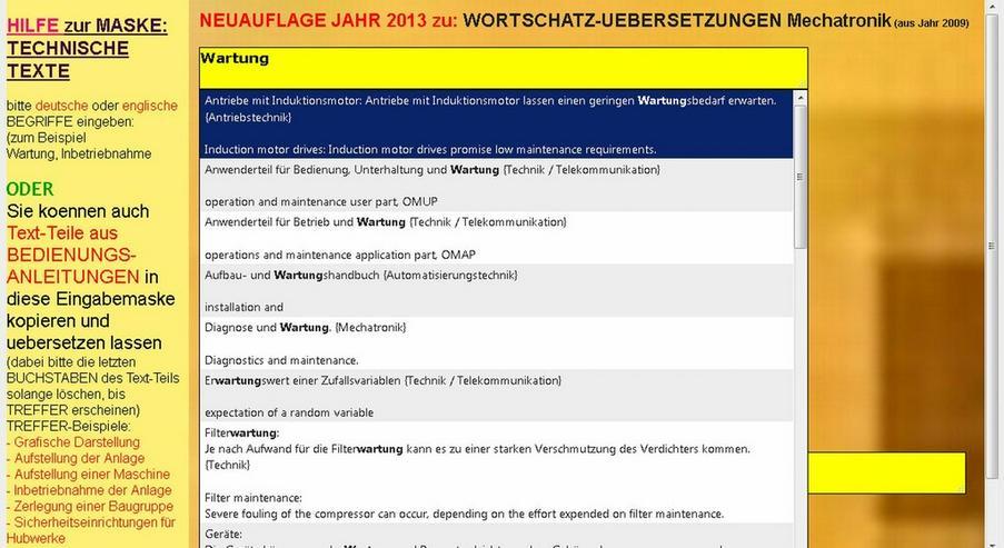 Bild 6: 2. Auflage: Woerterbuch + Texte uebersetzen
