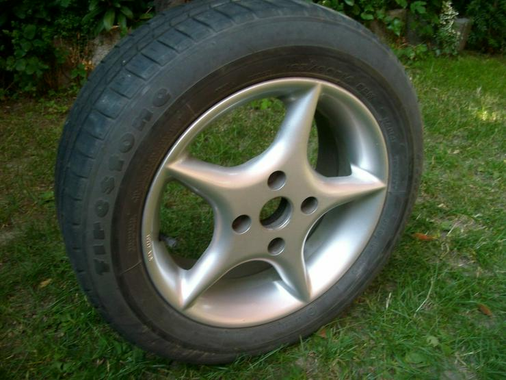 4 Alufelgen mit Reifen - Sommer-Kompletträder - Bild 1