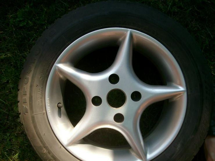 Bild 5: 4 Alufelgen mit Reifen