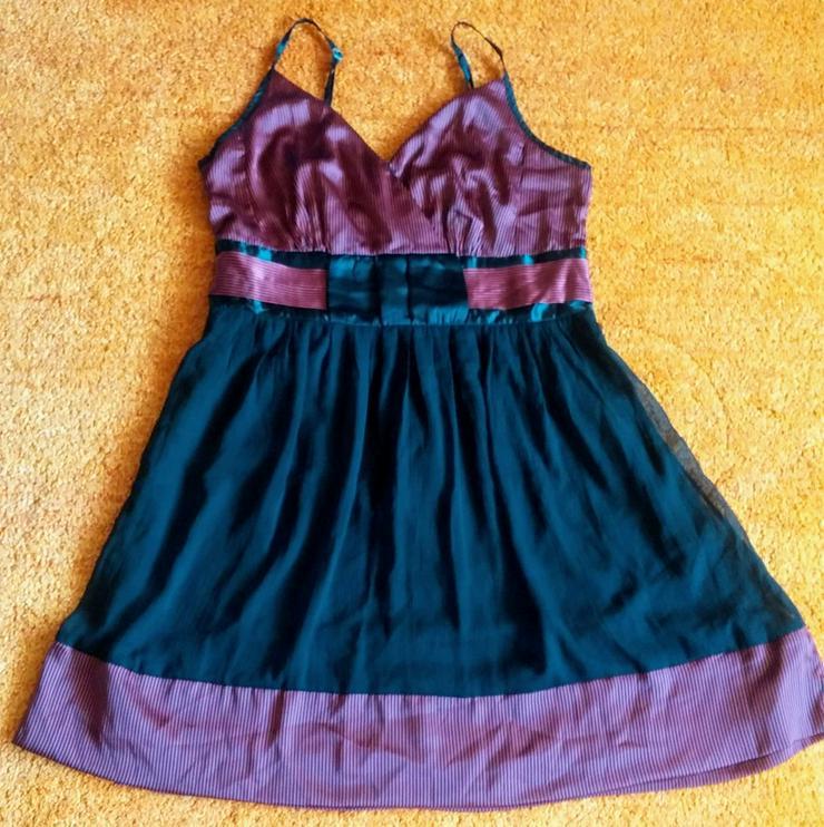 Damen Kleid Träger Satin Gr.42 Bon Prix NW - Bild 1