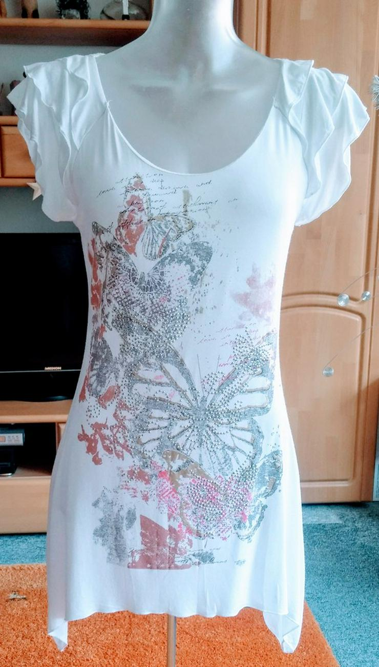 Damen Tunika Sommer Glitzer Shirt Gr.S Forever