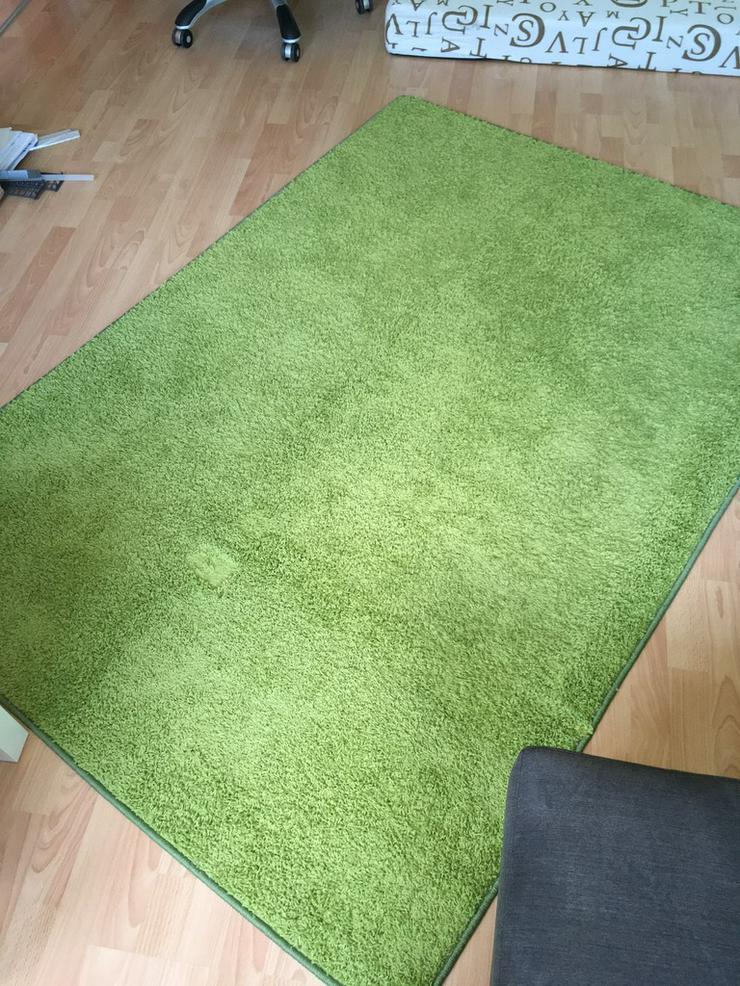 Hochflorteppich 1,40m x 2,00m - grün