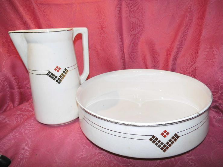 Antikes 2teiliges Waschset, Waschschüssel und - Weitere - Bild 1