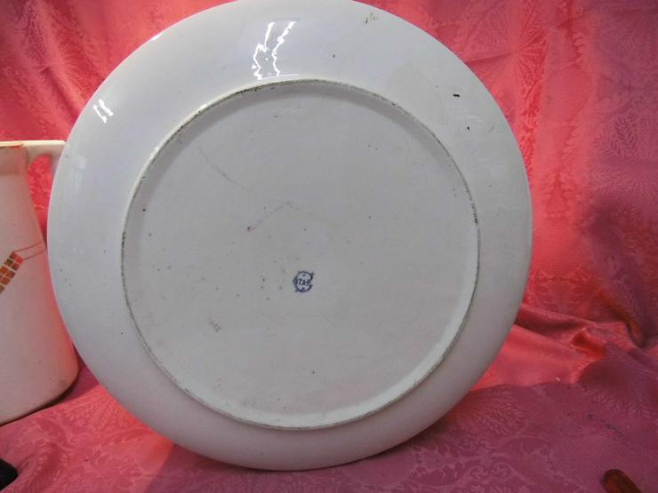 Bild 6: Antikes 2teiliges Waschset, Waschschüssel und