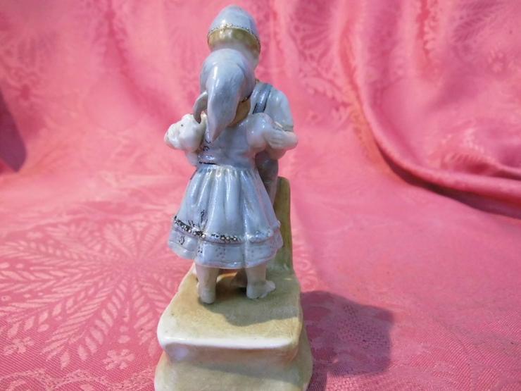 Bild 2: Antike Porzellanfigur Küssendes Kinderpärchen