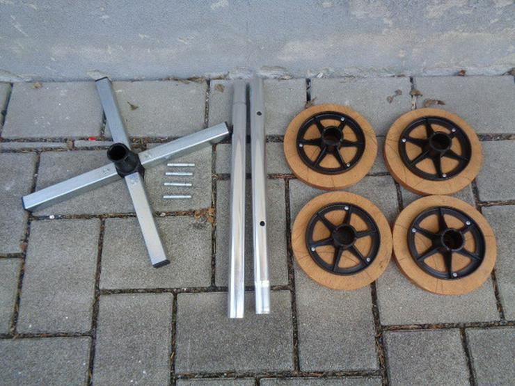 Bild 5: Felgenbaum Reifenhalter mit Holz