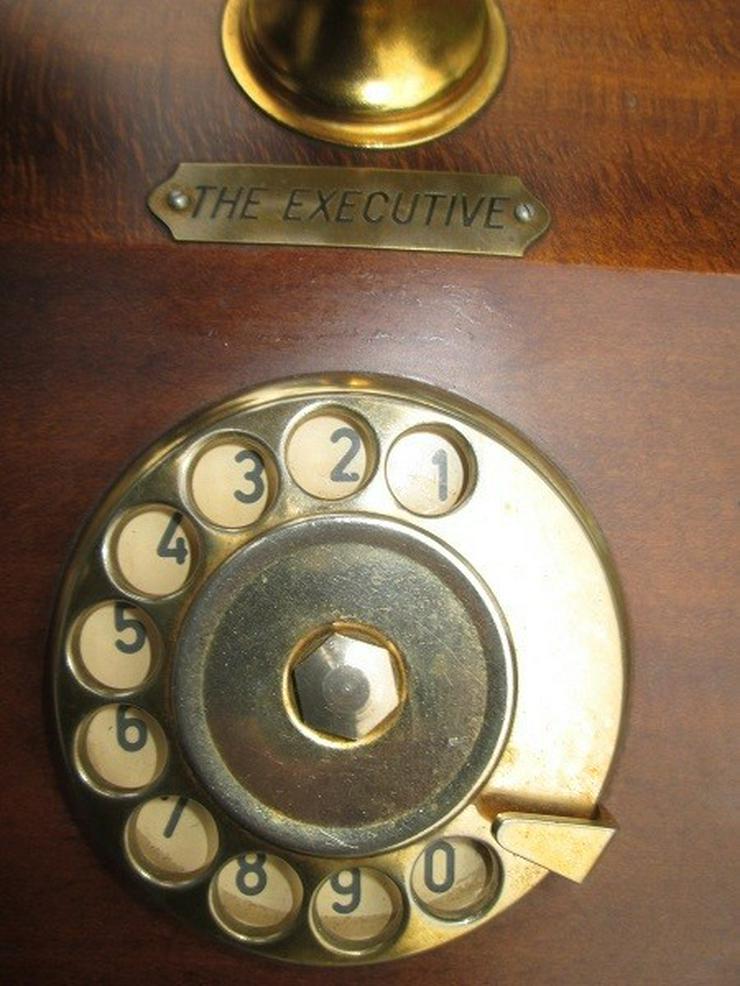 Bild 5: Telcer altes Holz Telefone Gold Plated 18K
