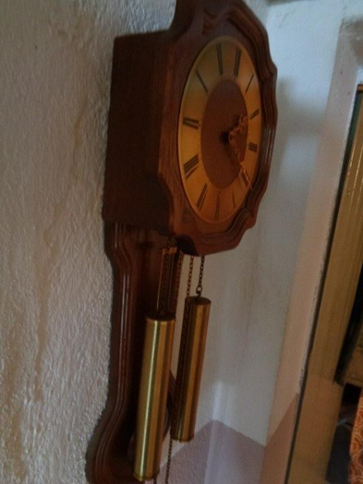 Bild 4: Alte mechanische Wanduhr+2 Gewichte Hermle