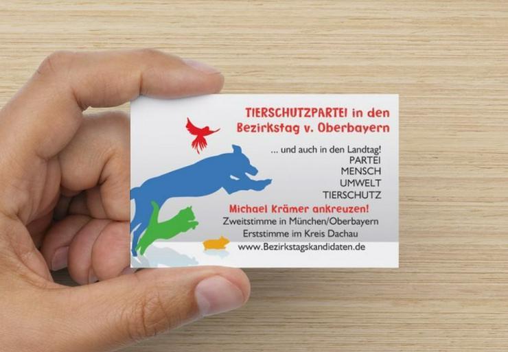 TIERSCHUTZPARTEI in den Bezirkstag  + Landtag