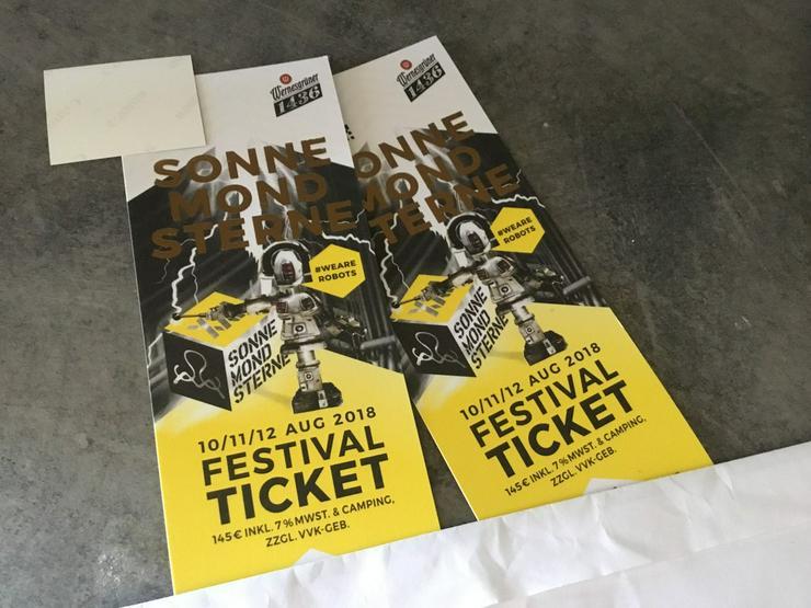 2x Sonne Mond Sterne Ticket 2018 SMS