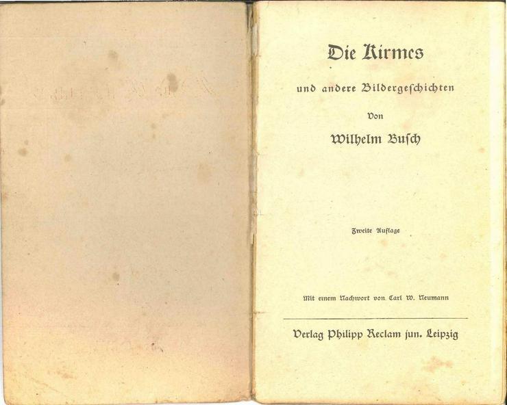 Bild 2: Wilhelm Busch, Die Kirmes und andere Bilderges